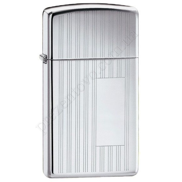 Зажигалка Zippo 1615 Slim Ribbon High Polish Chrome