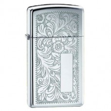 Запальничка Zippo 1652 Slim Venetian High Polish Chrome