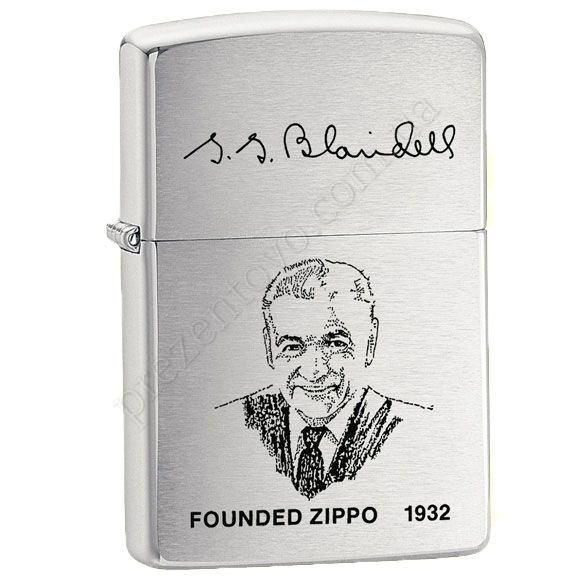 Зажигалка Zippo 200 FL Founders Lighter Brushed Chrome