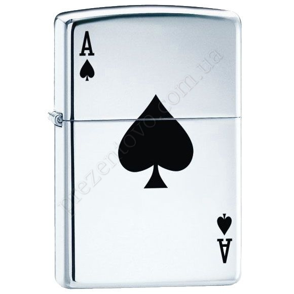 Зажигалка Zippo 24011 Lucky Ace High Polish Chrome