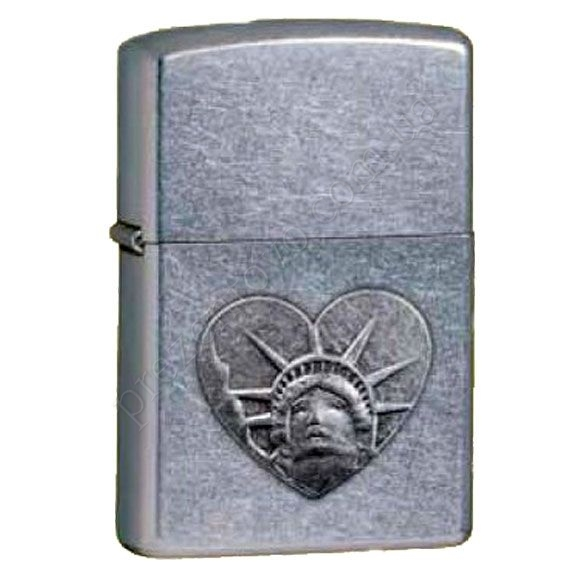 Зажигалка Zippo 24366 Statue of Liberty Head Street Chrome