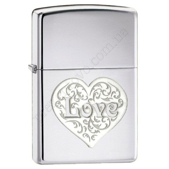 Зажигалка Zippo 24459 Double Lustre Love High Polish Chrome