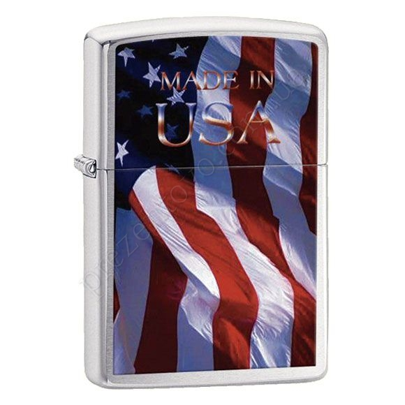 Запальничка Zippo 24797 Made in USA Flag