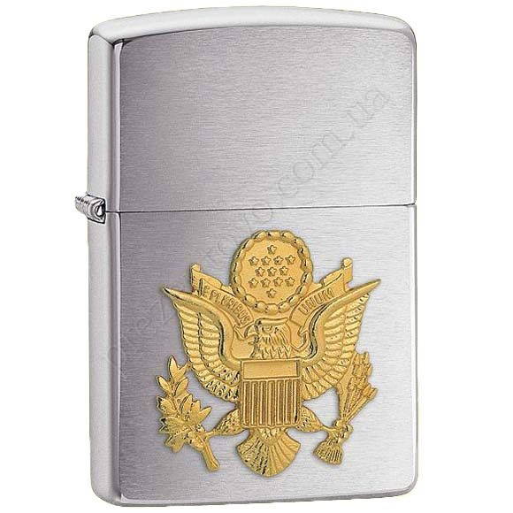 Зажигалка Zippo 280 ARM Army Emblem Brushed Chrome