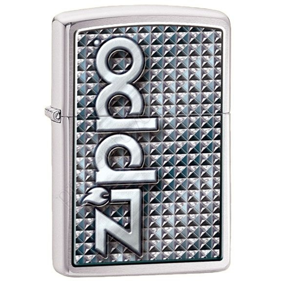 Запальничка Zippo 28280 3D Abstract Emblem Brushed Chrome