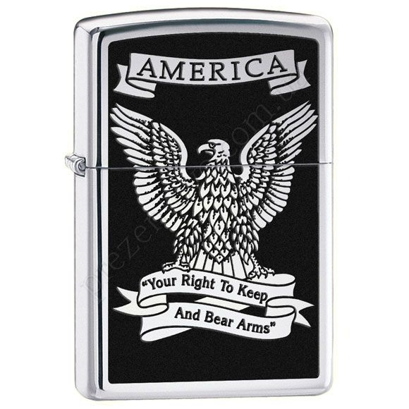 Зажигалка Zippo 28290 Eagle High Polish Chrome
