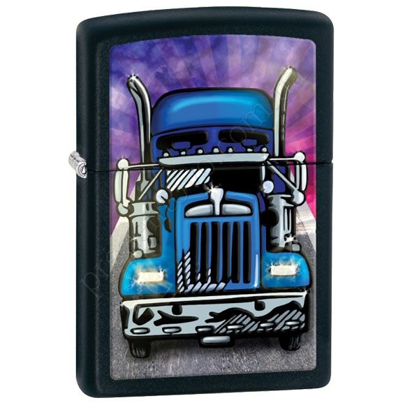 Запальничка Zippo 28312 Truck Head On Black Matte