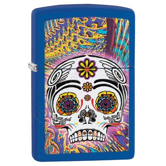 Зажигалка Zippo 28470 Day Of The Dead Blue Matte